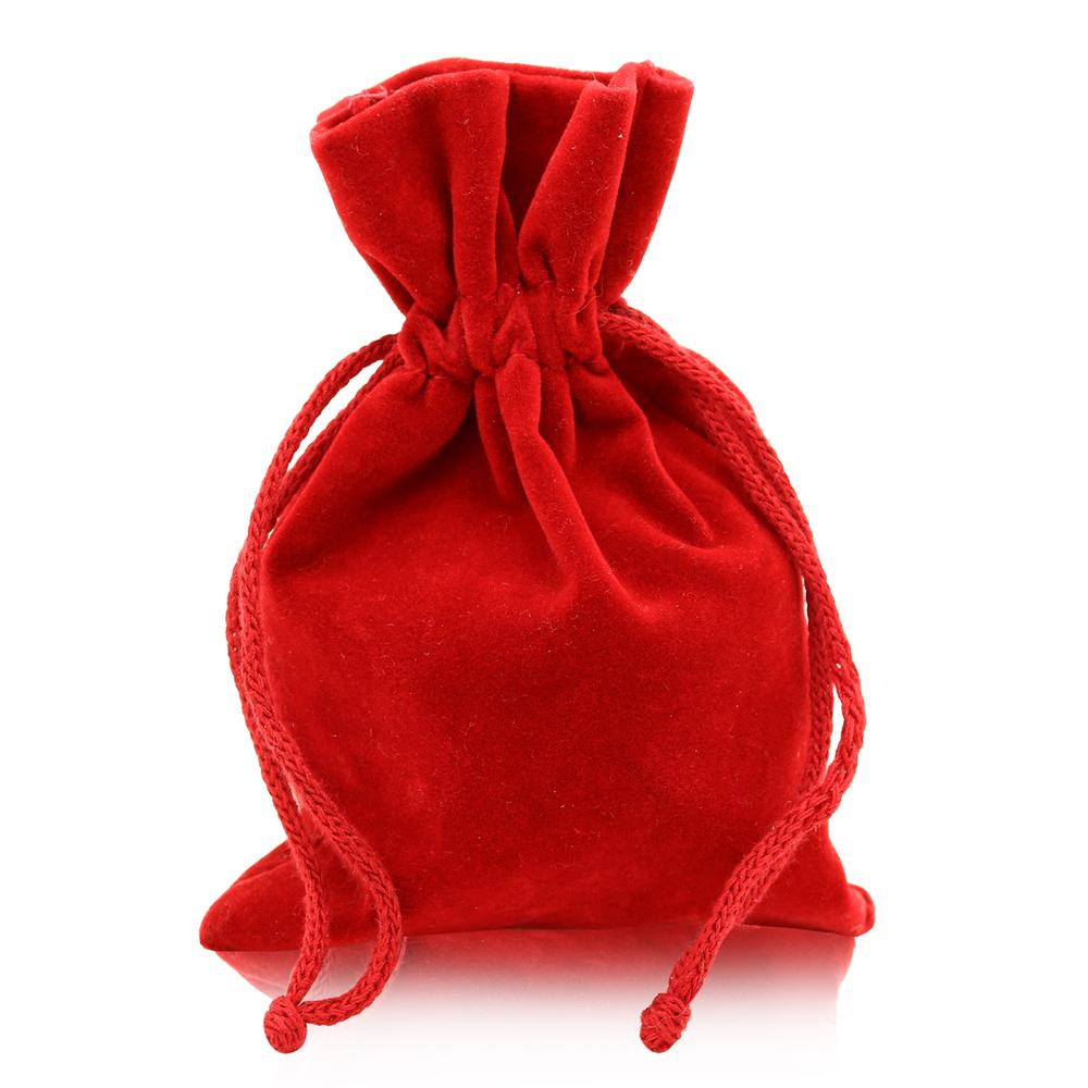 Geschenk-Säckchen Samtbeutel Schmuckbeutel Rot Verschließbar Tasche Aufbewahrung