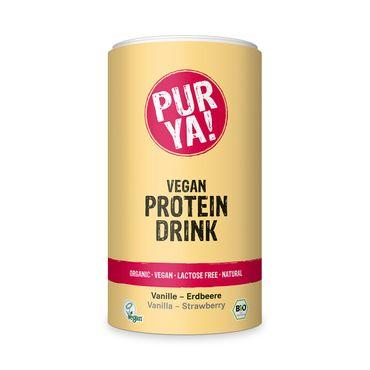 PURYA! Bio Vegan Protein Drink - Vanille-Erdbeere