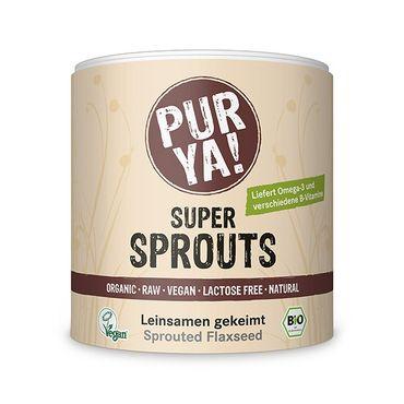 PURYA! Super Sprouts -  Bio Leinsamen, gekeimt
