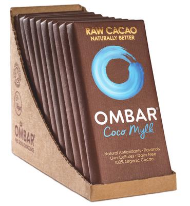 Ombar Bio-Rohschokolade - Kokosmilch, 1 Box (10 x 35g) – Bild 2