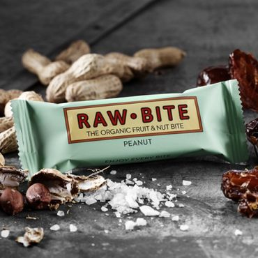 RAW BITE, BIO - Peanut Riegel, 12er Display Box – Bild 2