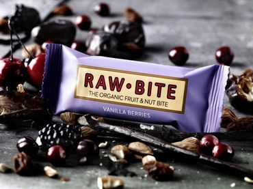 RAW BITE, BIO DK - Vanilla Berry Riegel, 12er Display Box – Bild 2