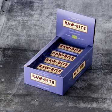 RAW BITE, BIO DK - Vanilla Berry Riegel, 12er Display Box – Bild 1