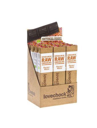 lovechock bio - Pecan / Maca, 12er Display Box