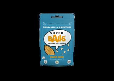 Superballs Mood Push (Cacao-Peanut) 8 x 48g, Bio