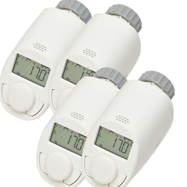 eqiva 4er set heizkoerperthermostat model n mit boost funktion heizungssteuerung. Black Bedroom Furniture Sets. Home Design Ideas