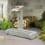 Brunnen mit Tränke. Natur, braun oder grau. 9,5 cm hoch. Für Weihnachtskrippe Bild 3