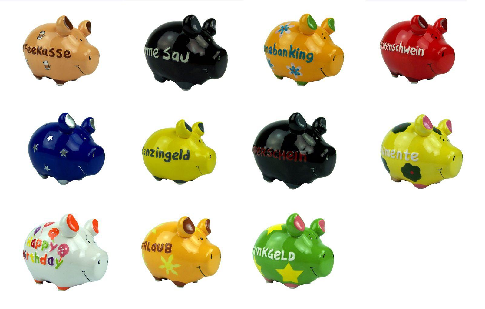 lange keramik KCG Spardose, Sparschwein, Moneybank. große Auswahl. 12 cm. lang  lange keramik