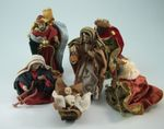 Krippenfiguren Satz aus Polyresin. Ankleidefiguren orientalisch 6 Tlg. 13 cm