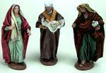 Belenes Puig Krippenfiguren, Heilige Familie, 12 cm. Aus Ton, kaschiert