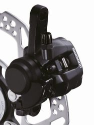 MECH. DISC-BRAKE  HR SCHWARZ (13) STAND. ADAPTER RESIN-PAD