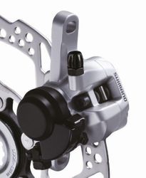 MECH. DISC-BRAKE  HR SILBER (13) STAND. ADAPTER RESIN-PAD