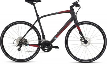 SPECIALIZED SIRRUS ELITE CARBON DISC SILCARBTNT/CNDYRED/LTBLU S