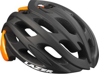 HELM BLADE MAT BLACK FLASH ORANGE L .
