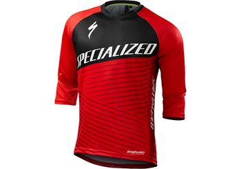 SPECIALIZED ENDURO COMP 3/4 JERSEY RED TEAM