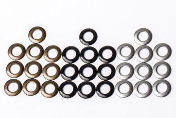 Blenden-Kit: 10x silber (Blende offen), 10x schwarz (Blende offen)