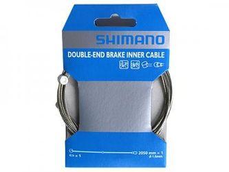 SHIMANO Bremszug MTB/Road Stahl, VR oder HR, 2.050 mm, Stahl, 1 Stk., Birnen- und Walzen
