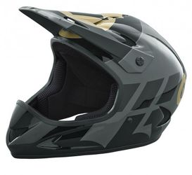 661 Rage Helm, black/gold, M