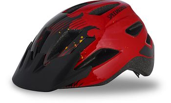 SPECIALIZED SHUFFLE LED HELM RED/BLK FLAMES CHLD