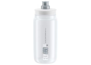 ELITE Trinkflasche FLY CLEAR 550ml graue Grafik