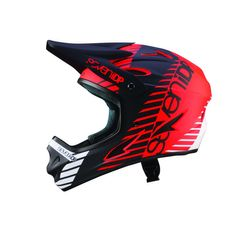 7iDP Seven M1 Tactic Fullface Helm, red/black/white, XL, 60-62cm
