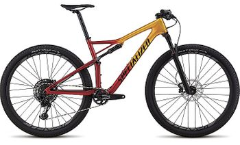 SPECIALIZED EPIC FSR EXPERT CARBON 29 GLOSS GOLD FLAKE / CANDY RED / COSMIC BLACK