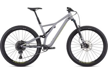 "SPECIALIZED STUMPJUMPER FSR COMP 29"" - 12-SPEED SATIN COOL GREY / TEAM YELLOW"