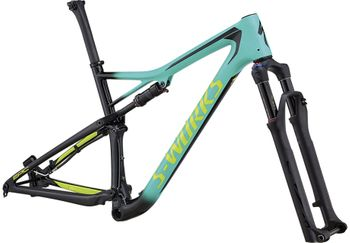 S-WORKS EPIC FSR CARBON 29 FRAMESET GLOSS ACID MINT / COSMIC BLACK / HYPER GREEN