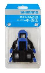 SHIMANO SPD-SL Schuhplatten, SM-SH12 (Blau), mit Bewegungsfreiheit hinten, SPD-SL Pedale