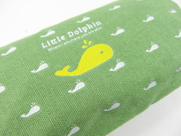 Dolphin Pocket Bag Miniblings Pencil Case Makeup Case School Green – Bild 2