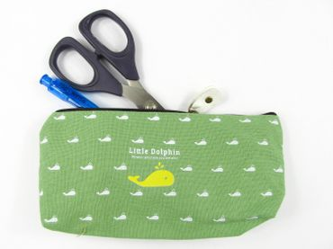 Dolphin Pocket Bag Miniblings Pencil Case Makeup Case School Green – Bild 3