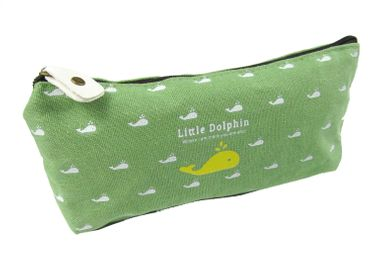 Dolphin Pocket Bag Miniblings Pencil Case Makeup Case School Green – Bild 4