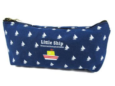 Boat Ship Bag Bag Miniblings Pencil Case Makeup Case Ship Sailing Blue – Bild 1