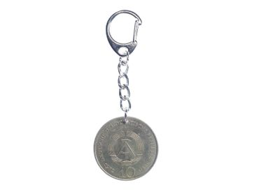 10 Mark GDR East Germany German DDR Coin Key Chain Key Ring Miniblings Real Money Upcycling Eastalgia – Bild 1