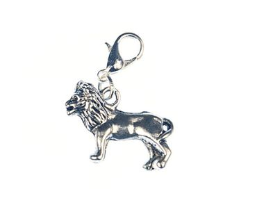 Leo Lion Charm For Bracelet Miniblings Charms Lion Afrika Silver New – Bild 1