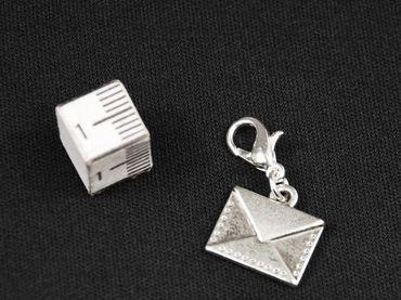 Letter Charm Miniblings Parcel Post Parcel Mail Silver – Bild 3