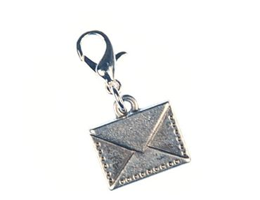 Letter Charm Miniblings Parcel Post Parcel Mail Silver