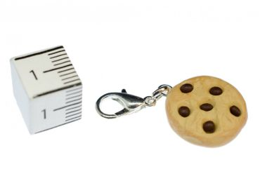 Chocolate Chips Charm Miniblings Chocolate Cookie Handmade – Bild 2