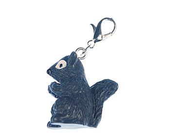Gray Squirrel Charm Zipper Pull Pendant Miniblings Squirrel Forest Animal Gray – Bild 2