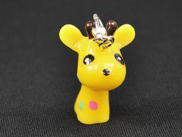 Giraffe Charm Zipper Pull Pendant Miniblings Giraffenkopf Child Dots Yellow – Bild 1