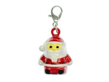 Santa Claus Charm Miniblings Bells Christmas Nicholas Metal
