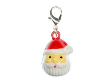 Santa Claus Charm Miniblings Bells Christmas Nikolaus Kopf – Bild 1