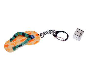 Badelatschen Schlüsselanhänger Miniblings Schlüsselring Sandale Gummi gelb – Bild 2