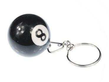 Billiard Ball Key Ring Miniblings Key Ring Billiards Black 8 – Bild 1
