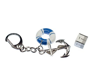 Anchor With Lifebelt Key Ring Key Ring Miniblings Two Parts – Bild 2