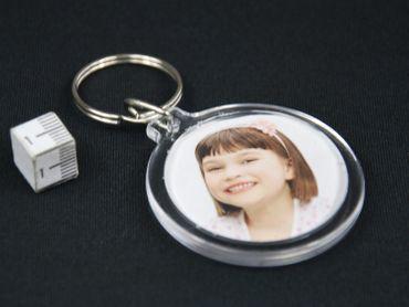 IHR FOTO rund Schlüsselanhänger Schlüsselring Miniblings  Bild DIY Bilderrahmen – Bild 4