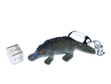 Schnabeltier Schlüsselanhänger Miniblings Schlüsselring Platypus grau 60mm Gummi – Bild 3
