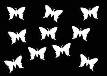10x Bügelbild Bügelbilder Aufnäher Patch Miniblings 25mm GLATT Schmetterling – Bild 17