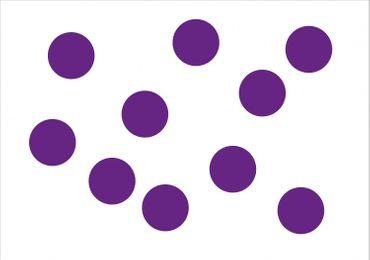 10x Bügelbild Bügelbilder Aufnäher Patch Miniblings 11mm FLOCK Punkt Punkte Dot – Bild 5