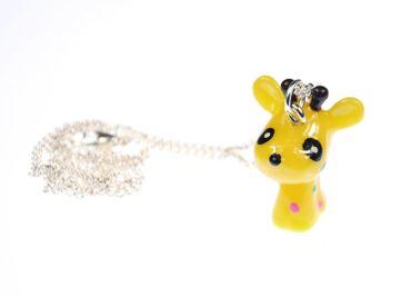 Giraffe Necklace Miniblings 45cm Giraffe Africa Children Jewellery Comic Yellow – Bild 2